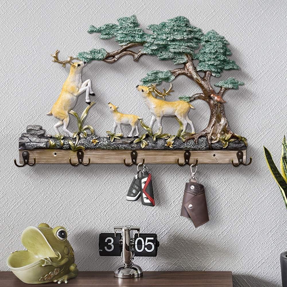 Creative Crochet Bois Décoratifs Tenture Murale Salon Porche RackCoat Crochet Trou Poinçonnage B