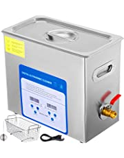 Mophorn 6L Professional Ultrasonic Cleaner 380W 304 and 316 Stainless Steel Digital Lab Ultrasonic Cleaner with Heater Timer for Jewelry Watch Glasses Circuit Board Dentures Small Parts