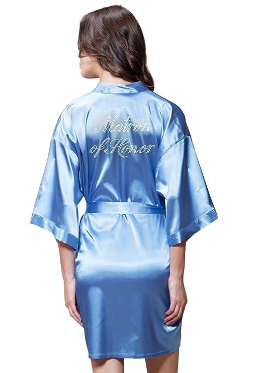 Amazon.com: Kimono de lino de color turquesa satinado con ...