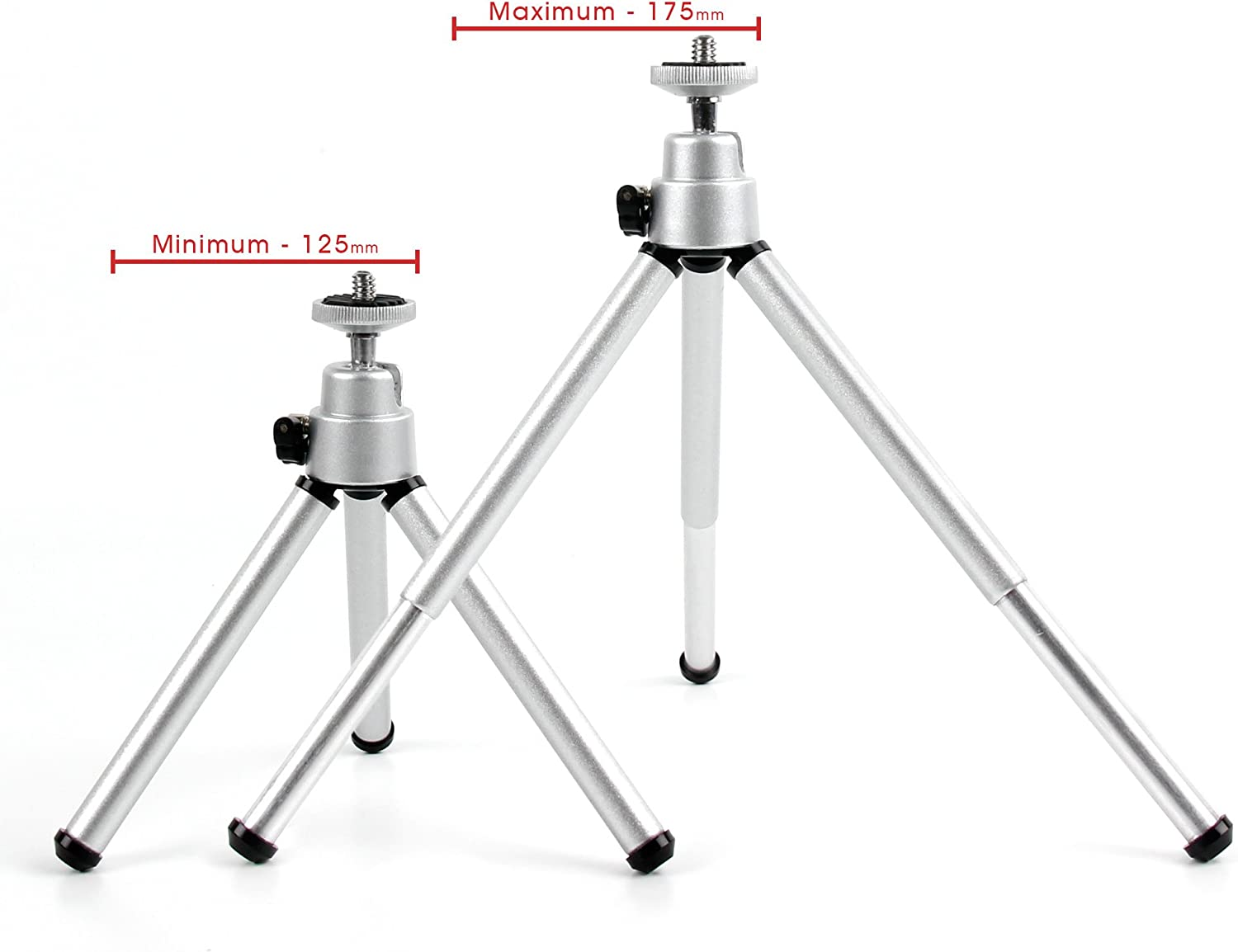 Compatible with The Samsung Galaxy Camera 2 DURAGADGET Portable Lightweight Aluminium Tripod with Sturdy Collapsible Legs