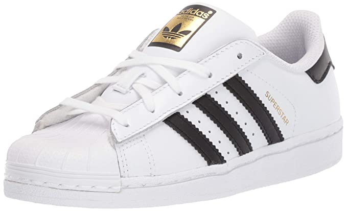adidas Originals Kids' Superstars Running Shoe, WhiteBlack, 3.5 M US