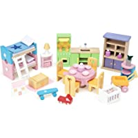 Le Toy Van -  Wooden Dolls House Full Starter Furniture & Accessories Play Set for Dolls Houses | Girls or Boys Dolls House Furniture Sets - Suitable for Ages 3+