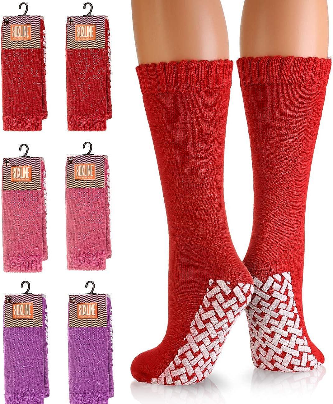Hospital Socks - Non-Skid No Slip Tube Sock for Women and Men