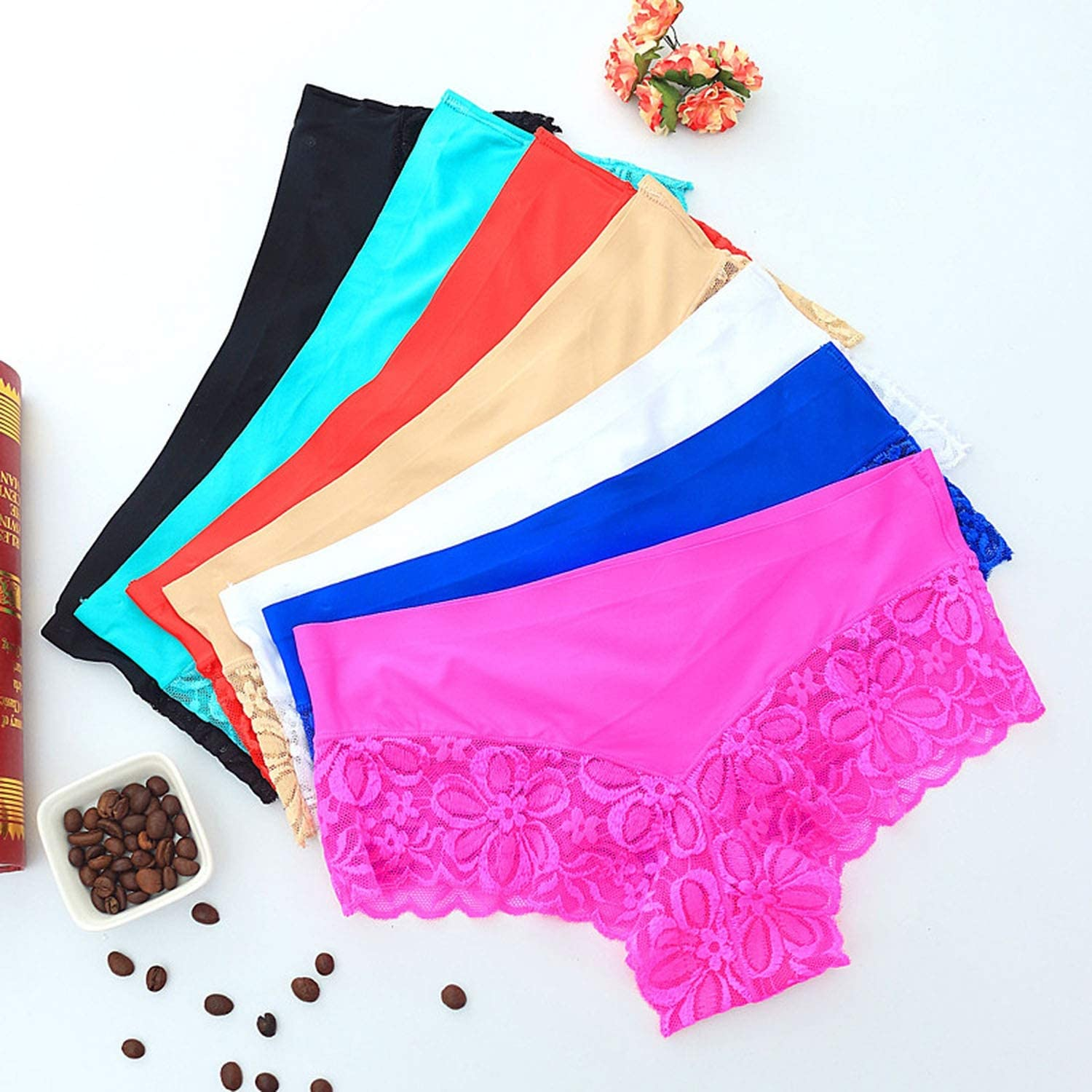 Summer Thin Lace Panties Underwear Women See Through Comfortable Shorts Women Female Intimates Boxers Boyshorts