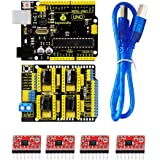 Keyestudio 3D CNCキットCNCシールドV3 + UNO R3 + 4本A4988ドライバ/ ArduinoのためのGRBL互換性