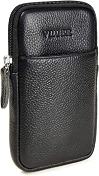 VIIGER Nylon Belt Phone Holster iPhone 11 Pro Max Holster Case with Belt Clip Smartphone Belt Loop Pouch Bag iPhone Xs Max Belt Case Fits Cellphone w// Case On for iPhone XR 7 Plus 8 Plus 6s Plus,black