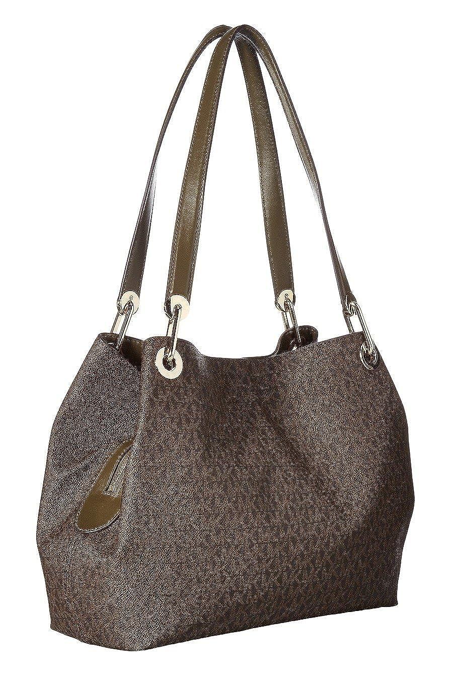 4f916619ac42 MICHAEL Michael Kors Raven Large Shoulder Tote Olive/Brown: Handbags:  Amazon.com