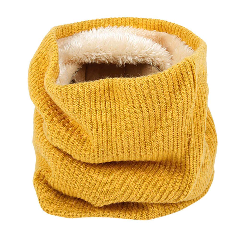 Infinity Scarf, Fheaven Men Women Soft Scarf Winter Warm Thick Fur Cotton Scarves Collar Bandanas (Yellow) Fheaven (TM)