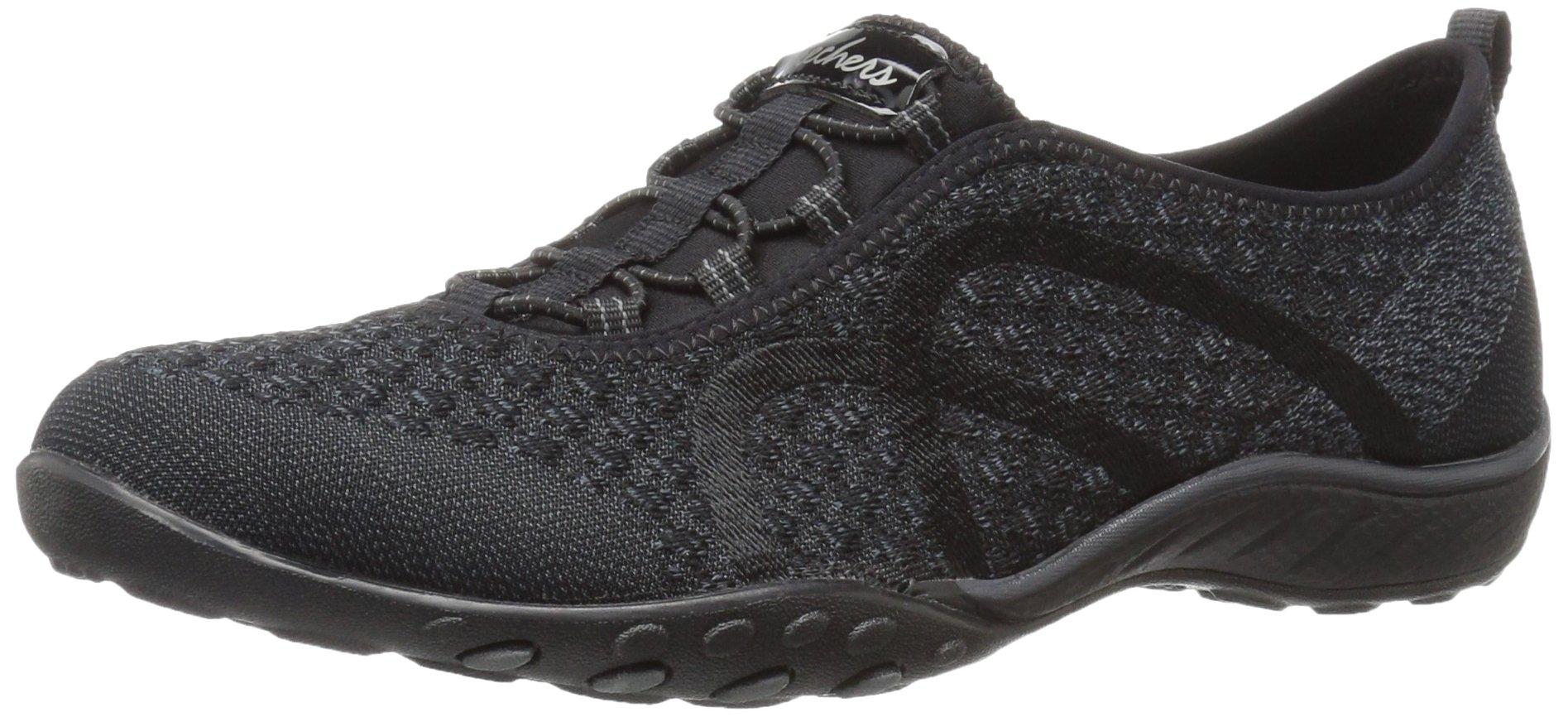 Skechers Sport Women's Breathe Easy Fortune Fashion Sneaker,Black Knit,5 M US by Skechers (Image #1)