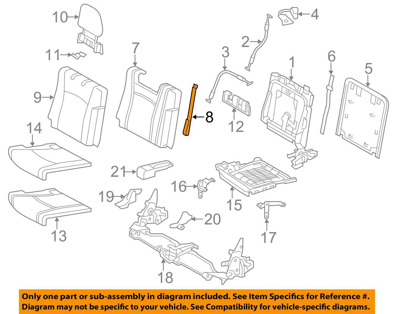 TOYOTA 71704-0E050-B1 Seat Band Sub-Assembly