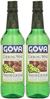 Goya Dry White Cooking Wine 25.4 Fl.Oz. | Vino Seco Blanco 750ml (