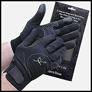 Trim Fit Life Ultimate Windproof Neoprene Sports Glove for All Outdoor Activities. Perfect for Both Men and Women. Touch Screen Function.
