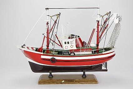 Barco Pesca Atun Maqueta Madera Decoración Capitán: Amazon ...