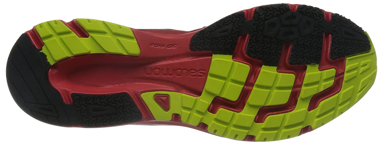 Salomon L39186400, Chaussures de Trail Homme, Multicolore-Rouge/Vert (Briquex/Radiant Red/Gecko Green), 44 2/3 EU