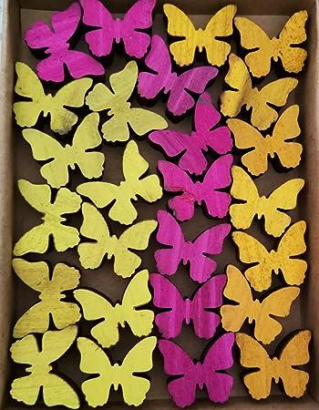 Amazonde Streudeko Holz 24 Teilig Blumen Vögel
