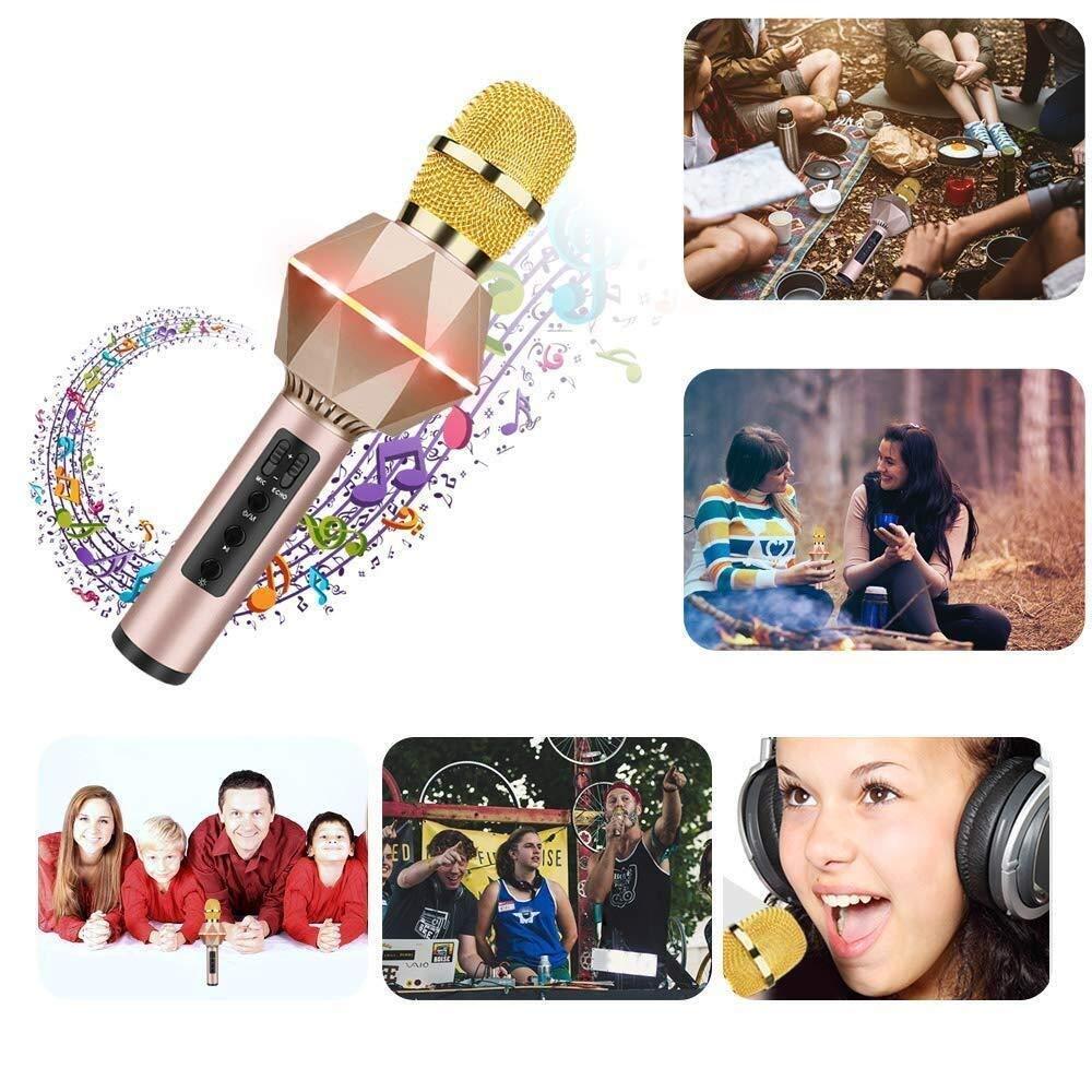 per Adulti e Bambini partito compleanno regalo Compatibile Android iOS Smartphone Color : 3 Microfono Karaoke Wireless Bluetooth Bambini Portatile Karaoke Microfono con Altoparlante per Cantare