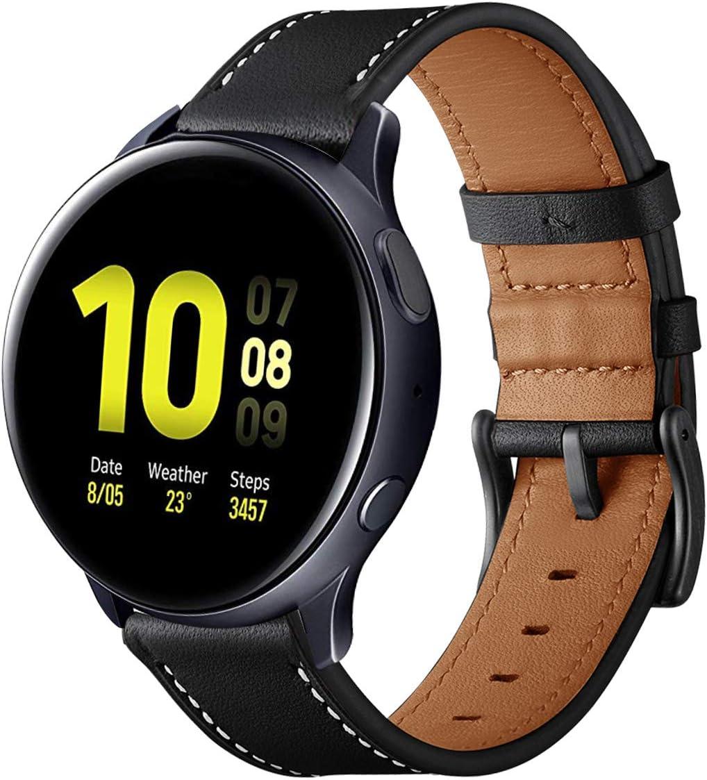 Malla De Cuero Kartice Para Galaxy Watch Active2 44mm negro