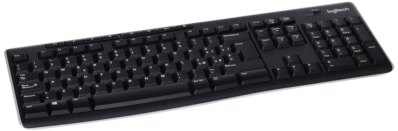Logitech K270 - Teclado inalámbrico, QWERTY Italiano, USB, color negro: Logitech: Amazon.es: Informática
