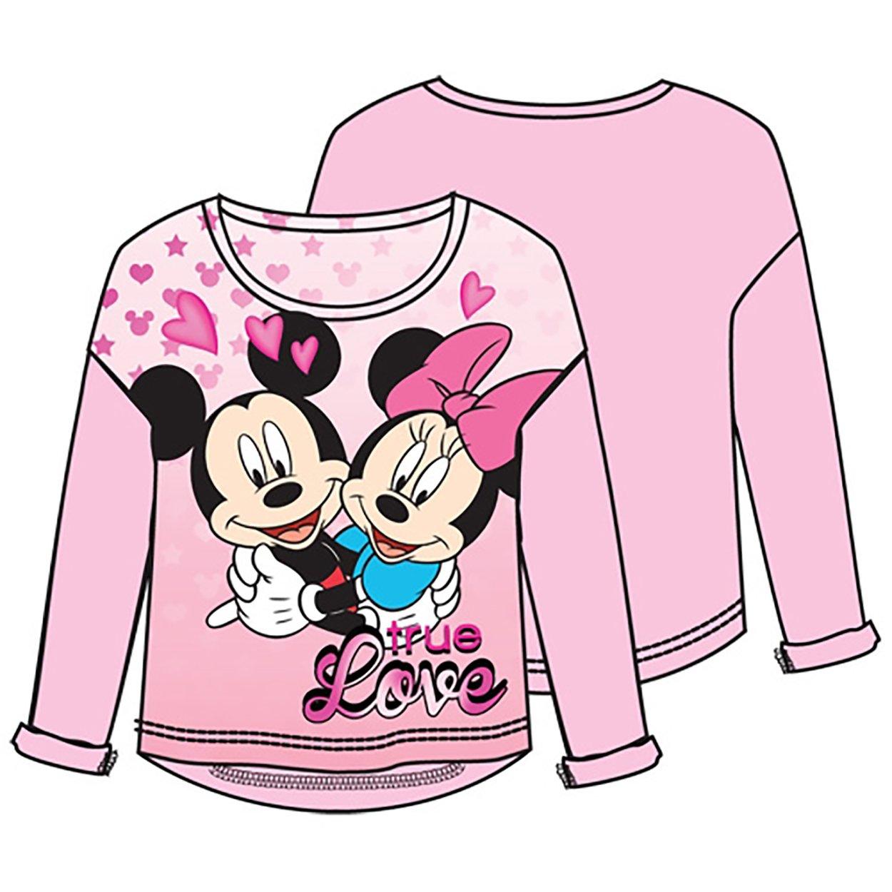 Disney Mickey Minnie Love,youth Girls Sweater Hilo, Pink (X-Small)