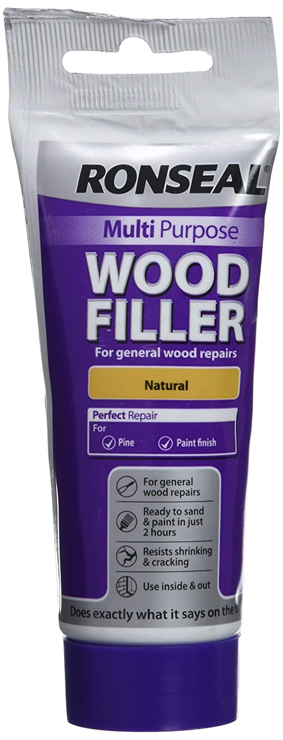 Ronseal RSLDC20ML 100g Multi-Purpose Natural Wood Filler Tube RSLMPWFN100G