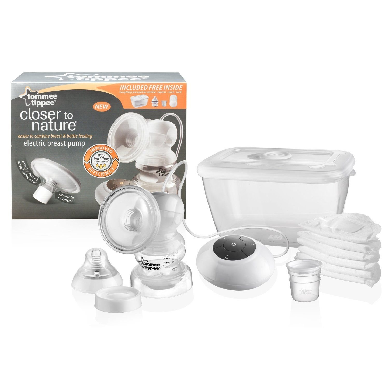 Tommee Tippee Closer to Nature Electric Breast Pump BPA Free Brand New &Improved Good Gift for Mom and Baby Fast Shipping Ship Worldwide