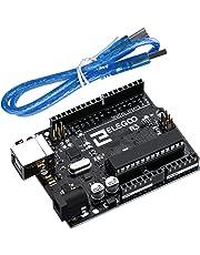 ELEGOO Tarjeta Placa con Microcontrolador Basada en el ATmega328P ATMEGA16U2 con Cable USB