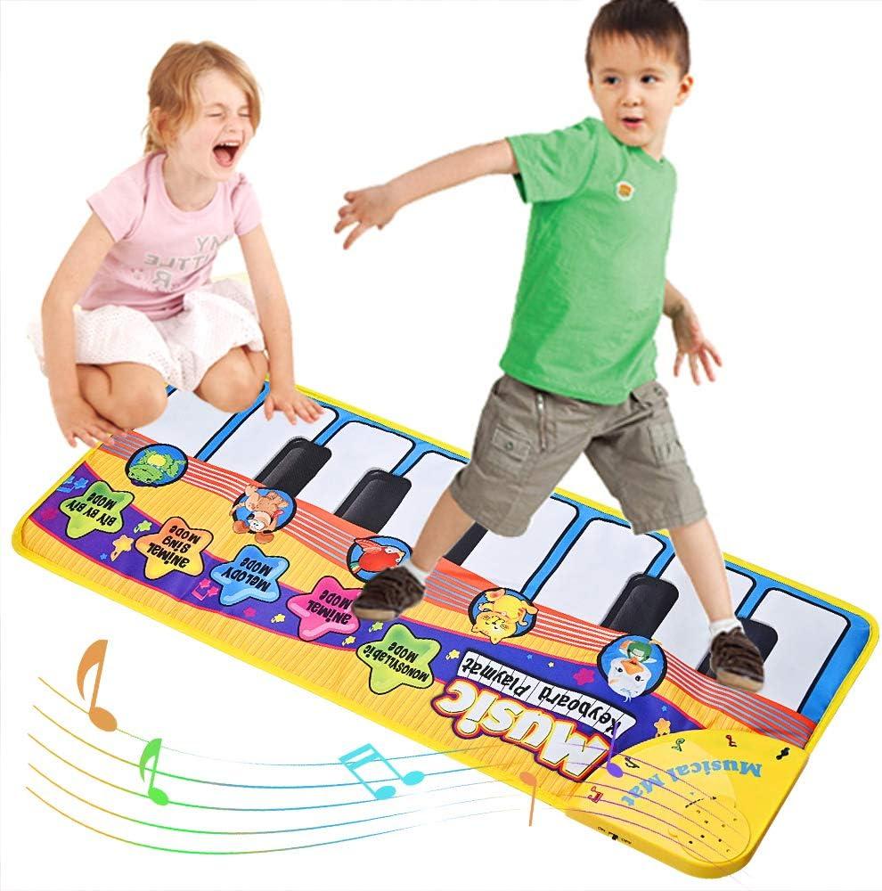 Tappeto Musicale Bambini, BelleStyle Bambino Piano Playmat Strumento Musicale