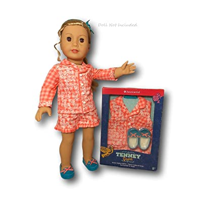American Girl Tenney's Gingham Pajamas for 18-inch Dolls: Toys & Games