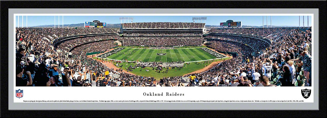 Amazon.com : Oakland Raiders Alameda County Coliseum Deluxe Framed ...