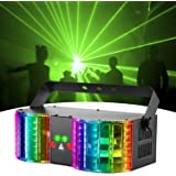 Stage Lights Sound Activated RGBW LED DJ Lights Mixed Beam Lights Effects with Remote Control DMX 512 Controllable Party Ligh