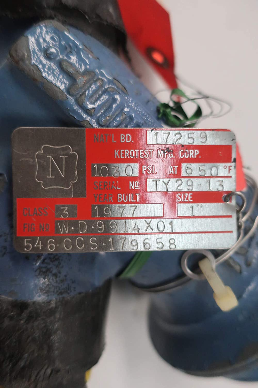 KEROTEST W-D-9914X01546-CCS-179658 Steel Socket Weld Check Valve 1IN
