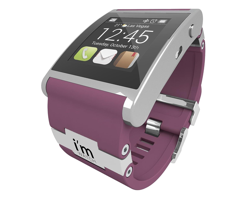I 'm 128MB Watch Uhr mit Kautschuk Armband Silber - flieder