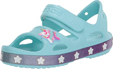 Crocs Kids Fun Lab Unicorn Clog Comfortable Slip on Shoe for Toddlers