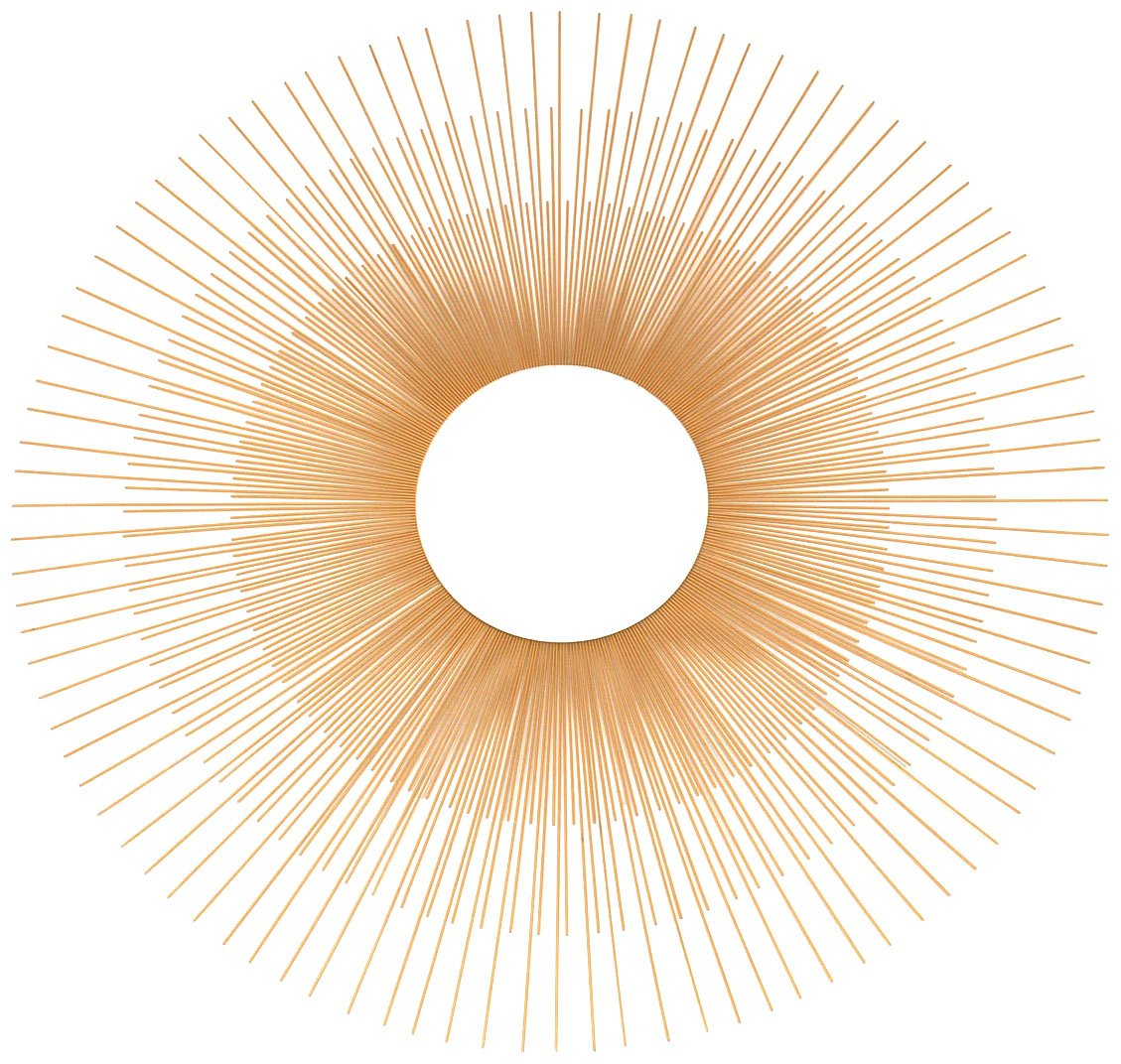 Amazon.com: Ashton Sutton Wall Mirror, Gold Metal Sunburst Rays ...