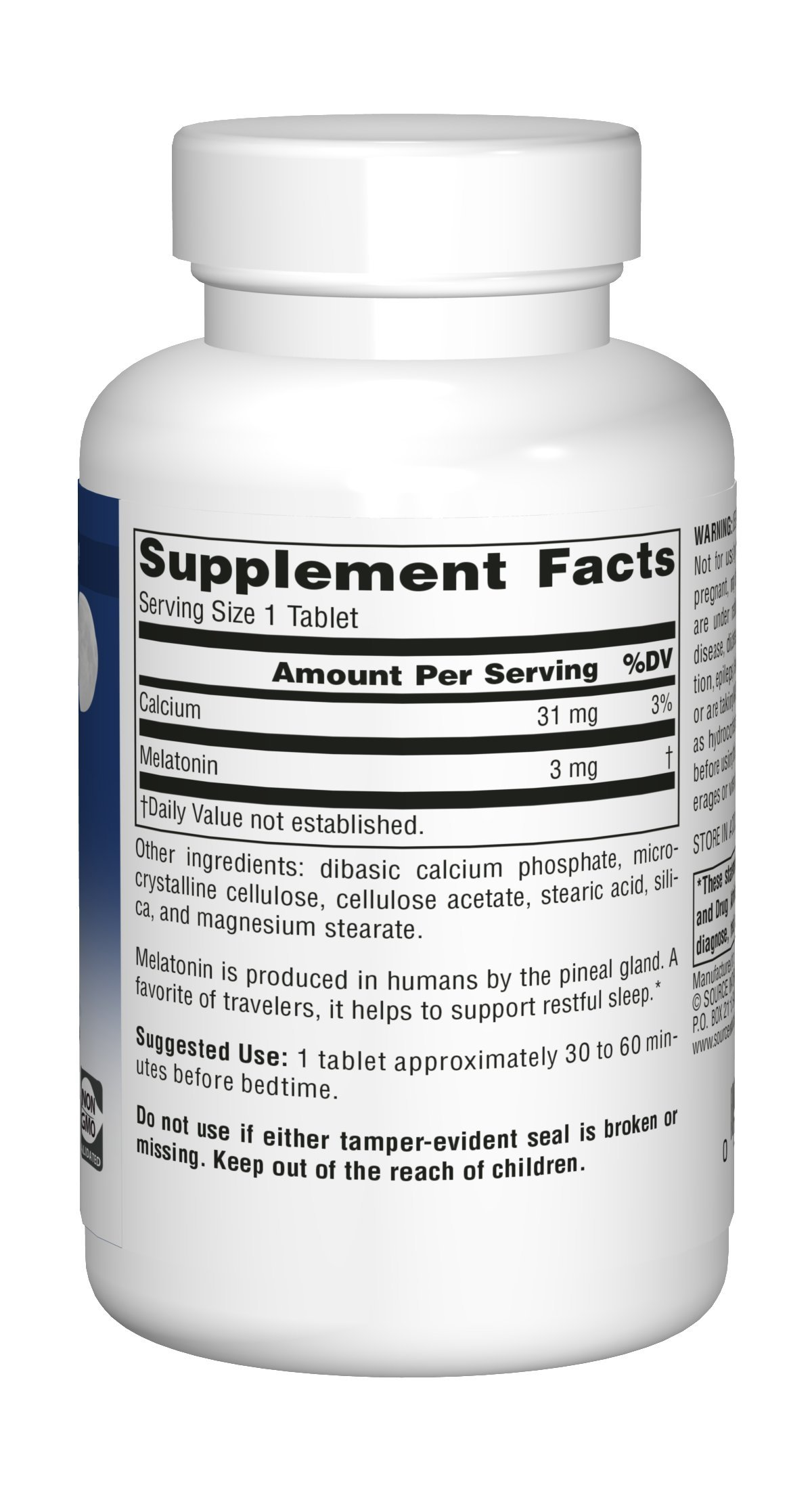 Source Naturals Melatonin 3mg - Sustained Release - 240 Tablets by Source Naturals (Image #3)
