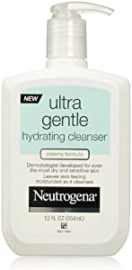 Neutrogena Ultra Gentle Hydrating Daily Facial Cleanser for Sensitive Skin, Oil-Free, Soap-Free, Hypoallergenic & Non-Comedogenic Creamy Face Wash,12 fl. oz (Pack of 6)