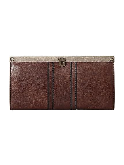 70974ae8a Fossil - Cartera de Mano de Cuero para Mujer marrón marrón: Amazon.es:  Zapatos y complementos