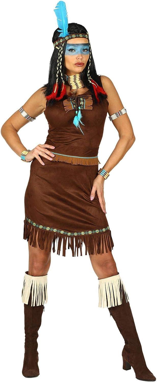 WIDMANN 00212 Disfraz de india para mujer, marrón, M