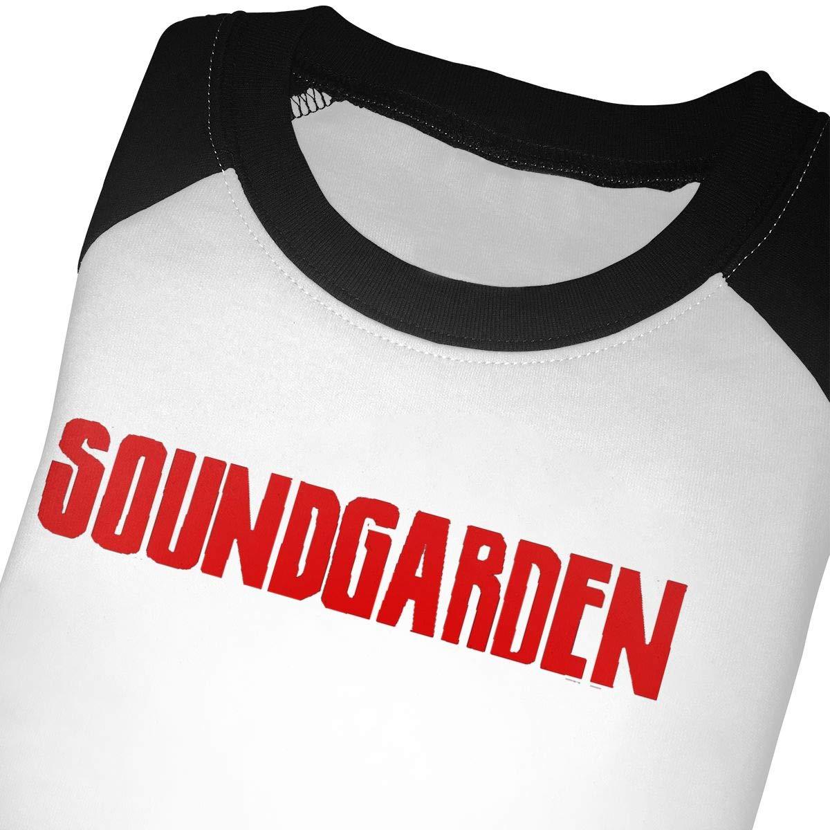 Black6Red Soundgarden Childrens 3//4 Sleeve T-Shirt