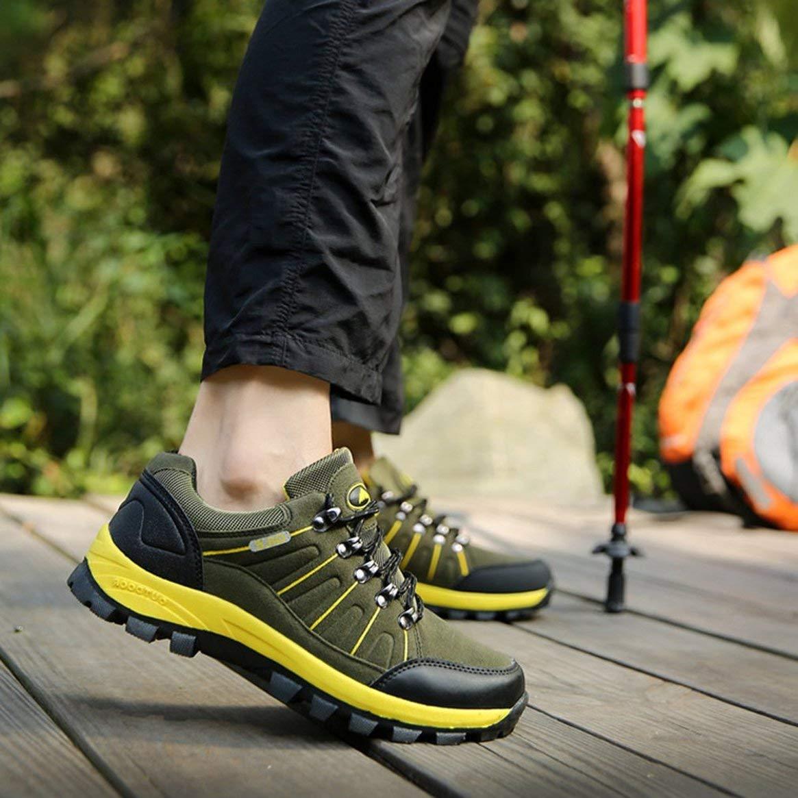 Zapatos de Excursionismo al Aire Libre Botas Cordones de montañismo Impermeables Hombre con Cordones Botas Calzado Deportivo para Escalar Trekking Ropa de Correr Resistente - Verde del ejército 41 6edc8e