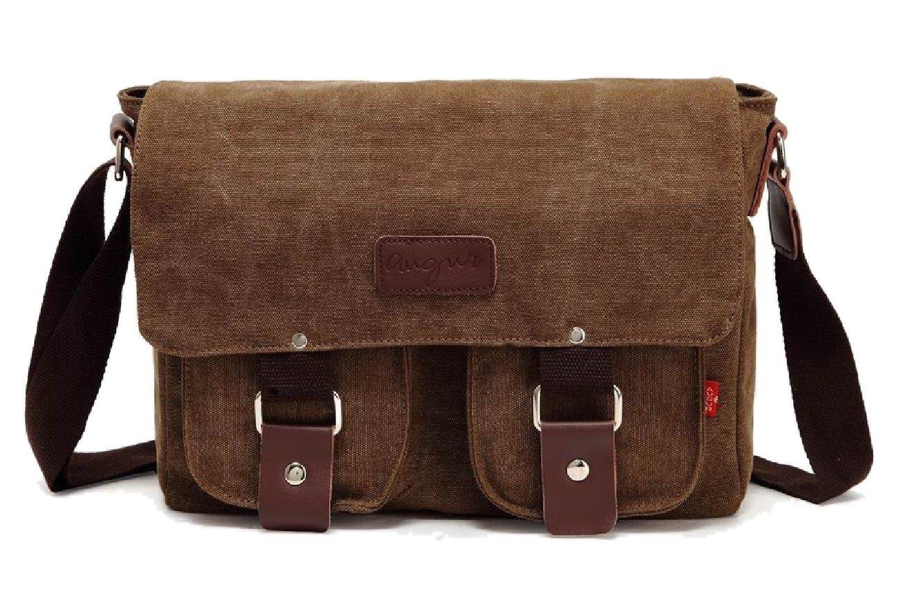 Messenger Bag Military Shoulder Satchel -Your Style Matters Work School Companion-Men/Women/Unisex Crossbody Bookbag-Casual Canvas-Mens Travel Leather Vintage