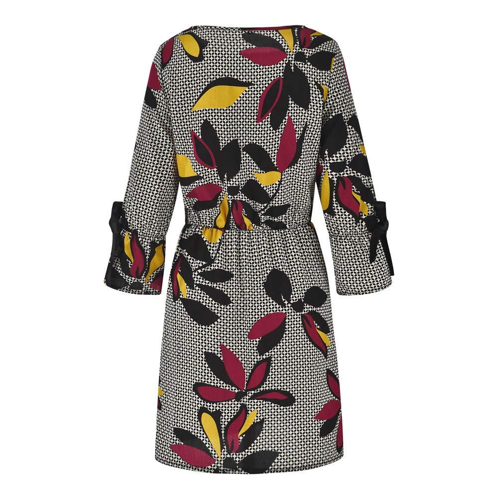 Women Black /& White Purple Print Long Sleeve Wrap Knee Length Work Casual  Dress