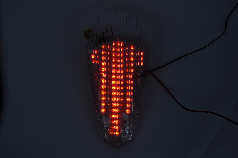 illuminazioni Topzone lenti fumè moto LED fanale posteriore freno fanale con indicatori di direzione integrato per Honda 04-07 SHADOW AERO 750 HW