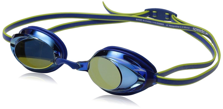 37b824a972d Amazon.com : Speedo Jr Vanquisher 2.0 Mirrored Swim Goggle, Blue, One Size  : Sports & Outdoors