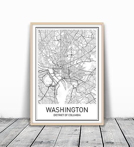 Amazoncom Washington DC Map Washington DC Poster Washington