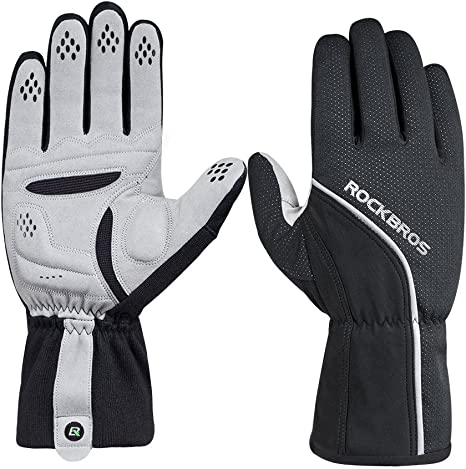RockBros Cycling Fleece Thermal Water Resistant Windproof Full Finger Gloves