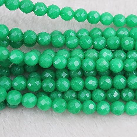 Amazonite Faceted Round Beads 8mm Turquoise 40 Pcs Gemstones Jewellery Making