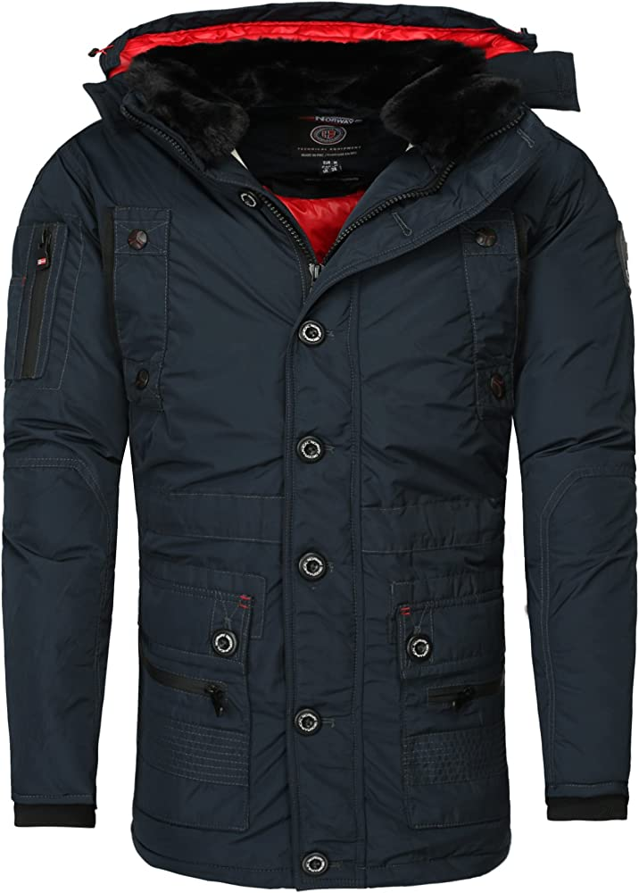super populaire 86842 f35ba Geographical Norway Homme veste d'hiver CALCUL Manteau ...