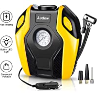 Audew Digital Tyre Inflator, Car Tyre Pump Air Compressor Car,12V DC 120W 150PSI With LED Light Digital Display,Tyre Inflator with Gauge Fit For Cars/Trucks/Bicycle/Sedan/SUV/Moto/Swimming Rings