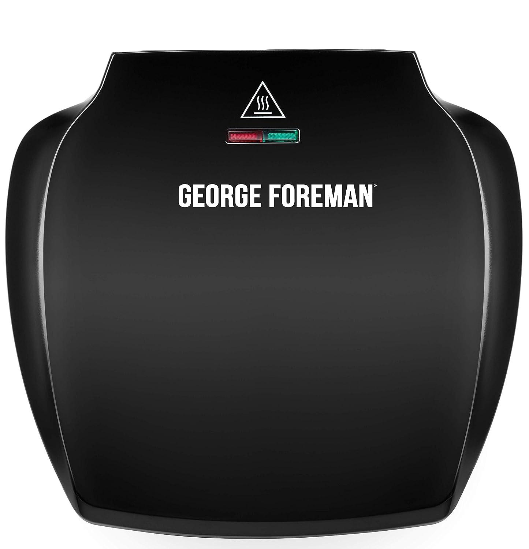 Negro George Foreman 23400 Compact Deep Tray Parrilla de 2 porciones